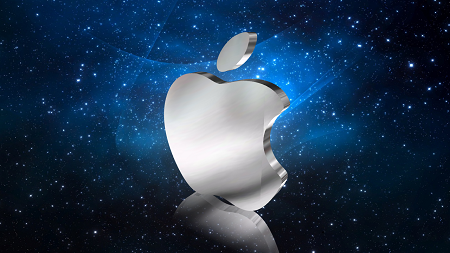 Cool 3D Apple Logo Design by Aurora 3D Text & Logo Maker