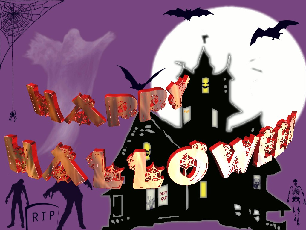 Halloween 3D Text 03