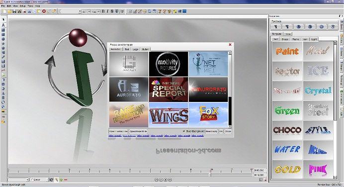 Windows 8 Aurora 3D Animation Maker full