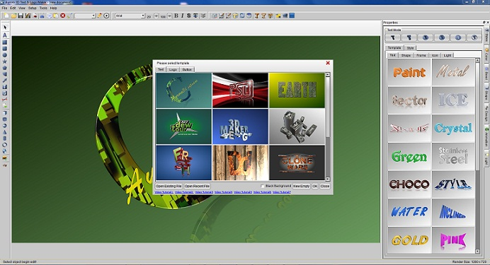 Aurora 3D Text & Logo Maker Screen shot
