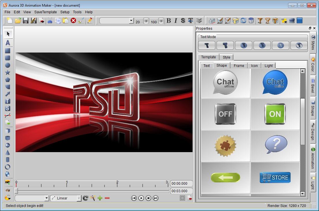 Aurora 3d animation maker screenshots for 3d layout maker