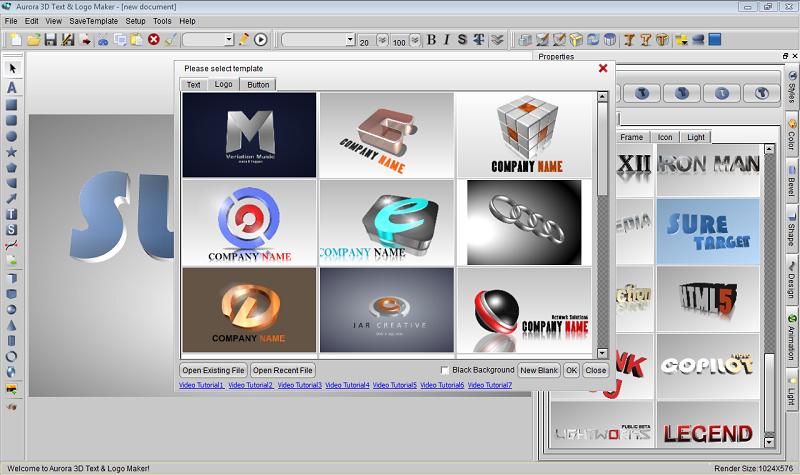 Easy 3d Text Logo Maker Screenshot Aurora3d Software