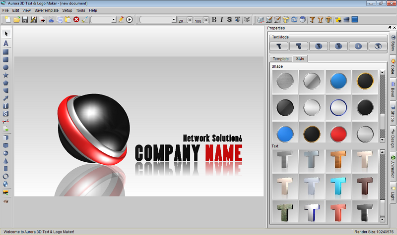 Easy 3d text logo maker screenshot aurora3d software 3d creator online free