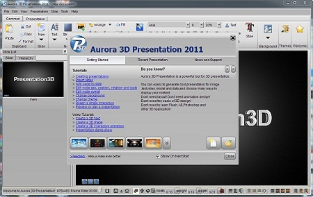 Aurora 3D Presentation full screenshot