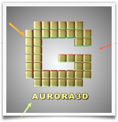 Aurora 3D Text Logo Maker for Mac - light