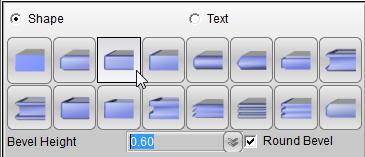 Aurora 3D Maker (Mac & Windows) Bevel