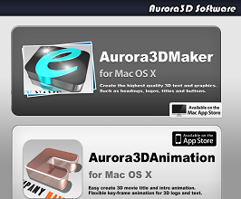 Aurora3D Software Website