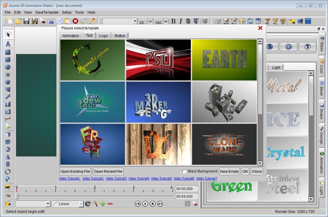 Aurora 3d animation maker screenshots a3d 000 a3d 001