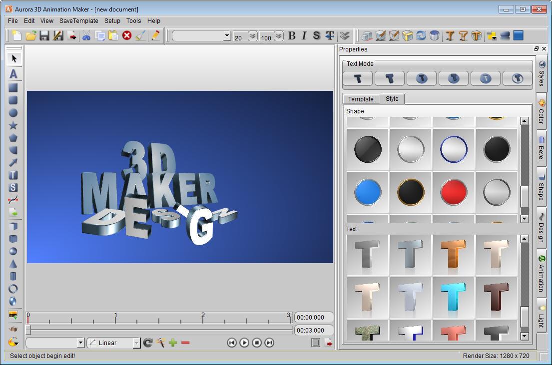 Aurora 3d Animation Maker Screenshots
