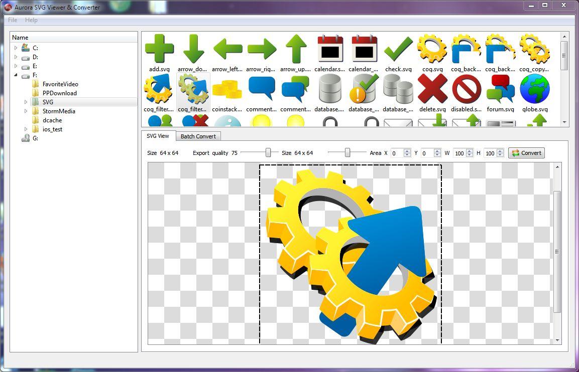 Aurora SVG Viewer & Converter full screenshot
