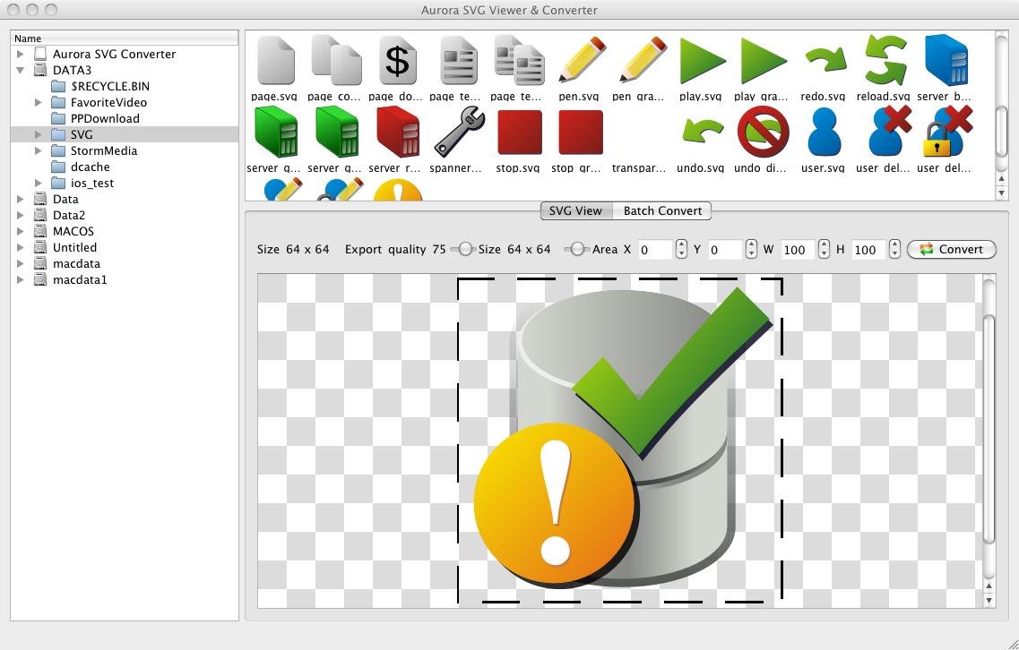 Aurora SVG Viewer & Converter screenshot